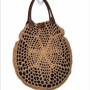 Brixton Large Straw Tote with Black Liner